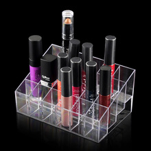 24 Lipstick Holder Display Stand Clear Plastic Cosmetic Acrylic Makeup Organizer Case Sundry Storage Make Up Organizador Brand
