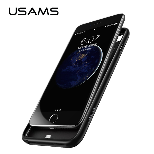 new arrival 446d4 0caf9 US $21.99 |For iPhone 6 6 plus Power Bank Case USAMS Battery Charger Case  Ultra Slim External Pack Backup Portable charger case 4200mAh-in Battery ...