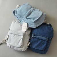 Backpacks for Women and Men, Classic Vintage Denim Bookbags School Bag College Jeans Backpack