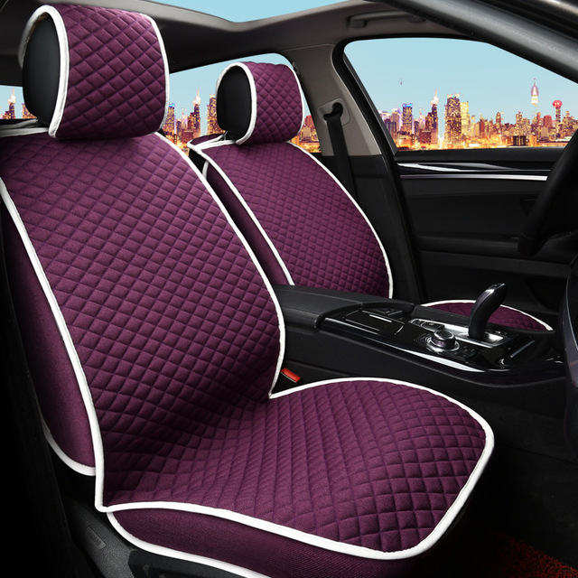 Red Fashion Women Car Seat Covers Fornt And Rear Bench Full Set For Ford Focus 2 Toyota Seats In Automobiles From