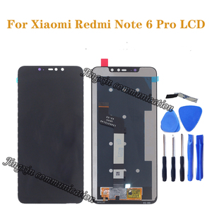 Image 1 - For Xiaomi Redmi Note 6 Pro Global Edition LCD DISPLAY Touch Screen LCD Digitizer Repair Parts with frame