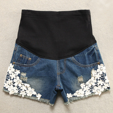 Summer Lace Shorts Pants Maternity font b Jeans b font Pants For Pregnant Women Clothing font