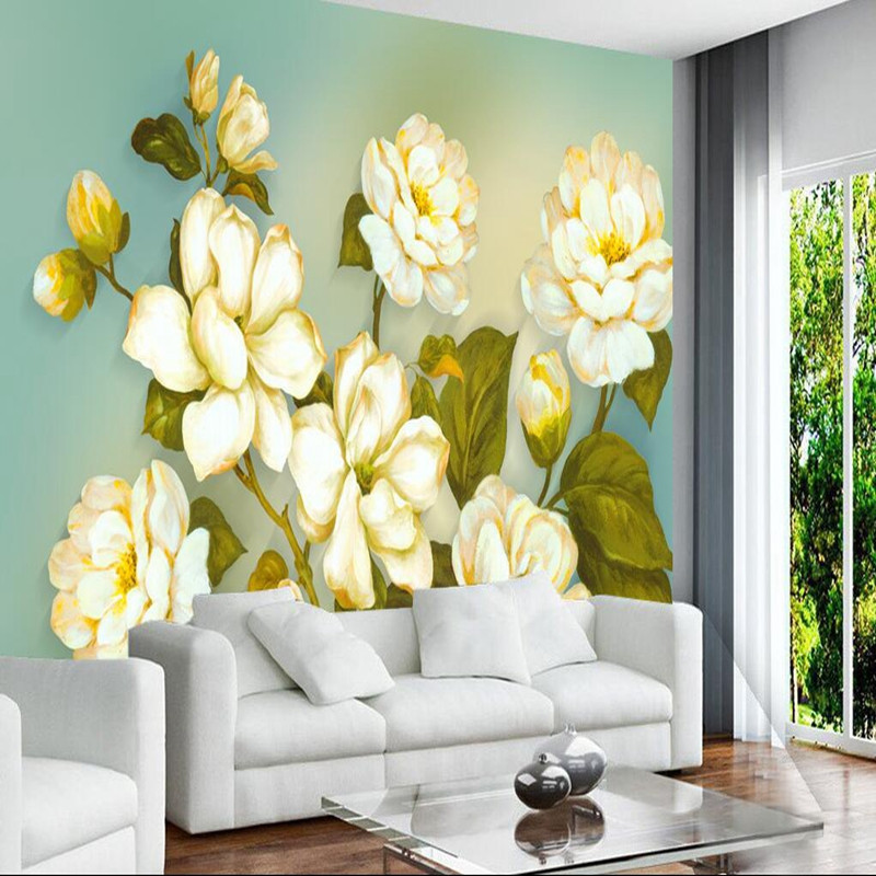 Custom 3D Wall Murals Wallpaper in Wallpapers 3D Stereoscopic Flowers Butterfly Wallpaper for Living Room Bedroom 3D Wall Mural custom photo wallpaper 3d wall murals balloon shell seagull wallpapers landscape murals wall paper for living room 3d wall mural