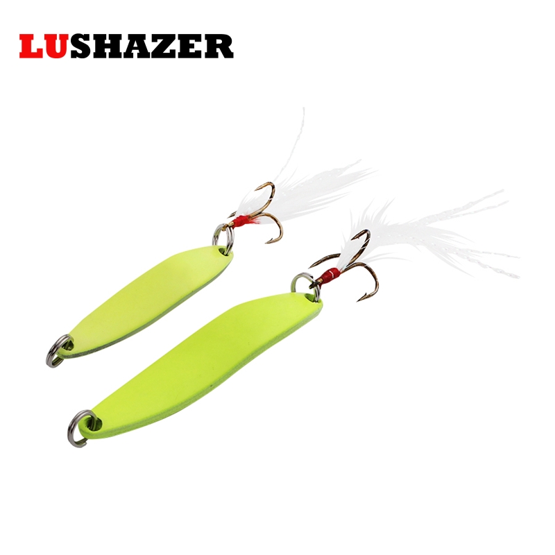 LUSHAZER China fishing spoon lures 5g 7g 10g 13g metal lure spoon bait fishing light iscas artificiais hooks tackles lushazer brand fishing lure spoon 2g 5g 7g 10g 15g 20g gold silver fishing bait spoon hard lures metal lure china free shipping