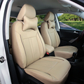 Cubierta de asiento de coche para Peugeot 307 SW negro PU fundas para asientos de cuero y soporte interior del coche accesorios para el coche cojín del asiento cubre