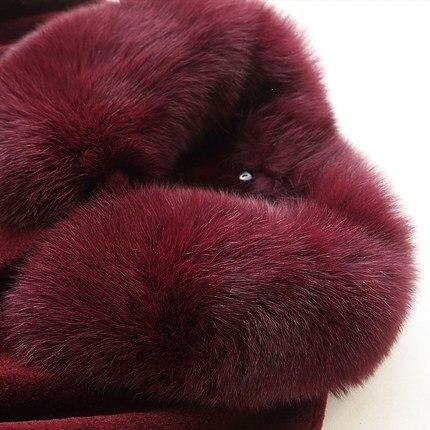 D'hiver Fourrure Mode Renard Col Lx1304 En Laine Chaud Véritable Veste Femme Casaco Ayunsue Feminino Femmes Réel Naturel De Manteau Moutons CqIHwY1xA
