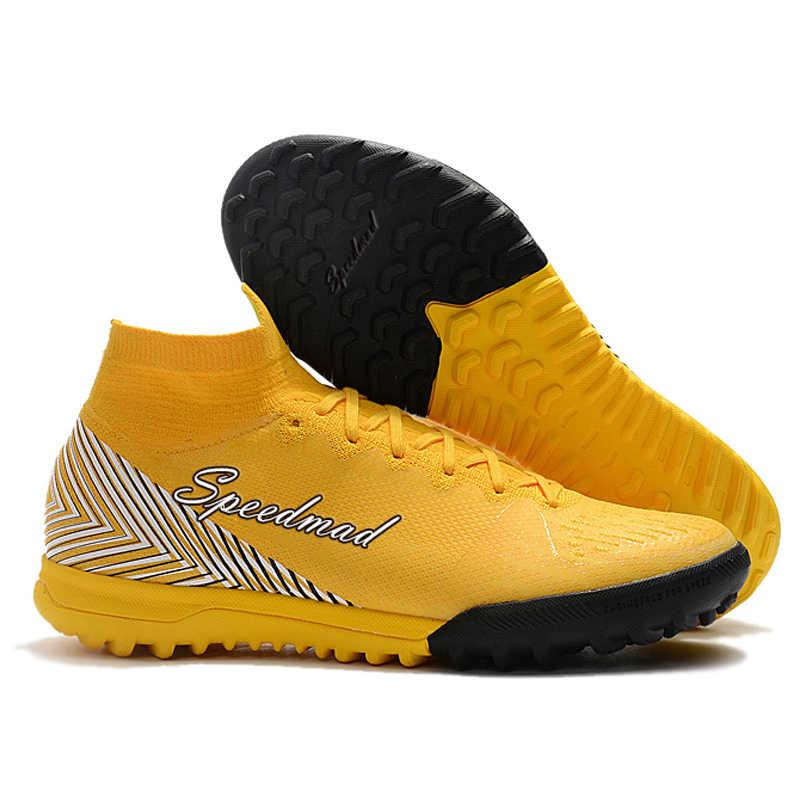 eac4d865d Turf Soccer Shoes Mens Tf Football Boots Superfly Vi Original CR7 Cleats  Zapatos De Futbol Hombre
