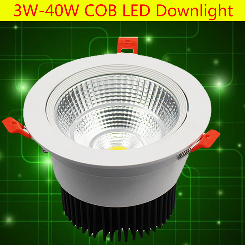 Us 3 82 30w High Lumens Dimmable Led Downlight Cob 24w Spot Led Encastrable Plafonnier 7w Adjustable Recessed Downlight Lighting Fixture In Led