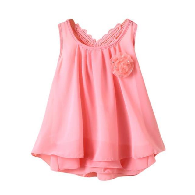 תינוק בן יומו בגדי קיץ ללא שרוולים בייבי בנות פעוטה שמלת ילדה פרח פרפר מוצק ללא משענת בגדי שמלה מזדמנים