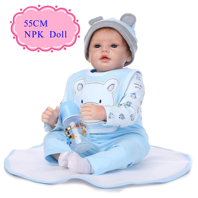 Safe Material 22inch 55cm NPK Brand Handmade Kinds Babies Toys Real Touch Reborn Baby Doll Limited Edition Babies Toys For GirlsSafe Material 22inch 55cm NPK Brand Handmade Kinds Babies Toys Real Touch Reborn Baby Doll Limited Edition Babies Toys For Girls