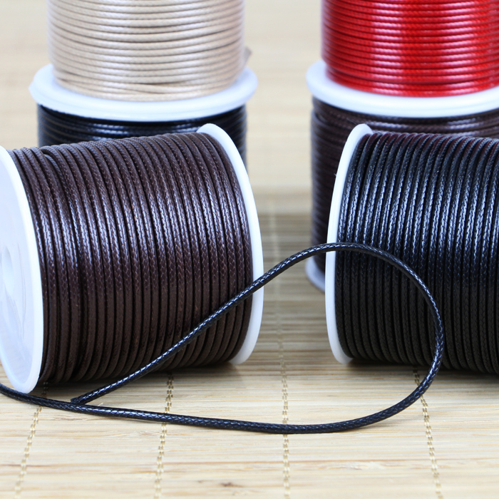 10 Meters Thickness:2MM Black and Brown Polyester Wax Cord Wax Rope For Jewelry