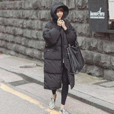 2016 Black Big Plus Size Korea Fashion Female Outwear Thick Warm Parka Oversize Fur Duck Down Winter Coat Women Retro With Hood