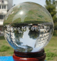 00938 HOT Sell ASIAN QUARTZ Clear Crystal Ball Sphere 100mm stand AAA in Statues Sculptures from Home Garden
