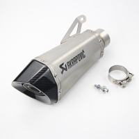60MM Exhaust Motorcycle Akrapovic Carbon Fbiler Stainless With DB Killer Slip on For BWM S1000R 2010 2016 S1000RR 2010 2014