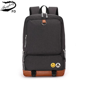 Image 3 - Fengdong school backpacks for boys black laptop computer backpack kids school bag bagpack men travel bags backpacks for children