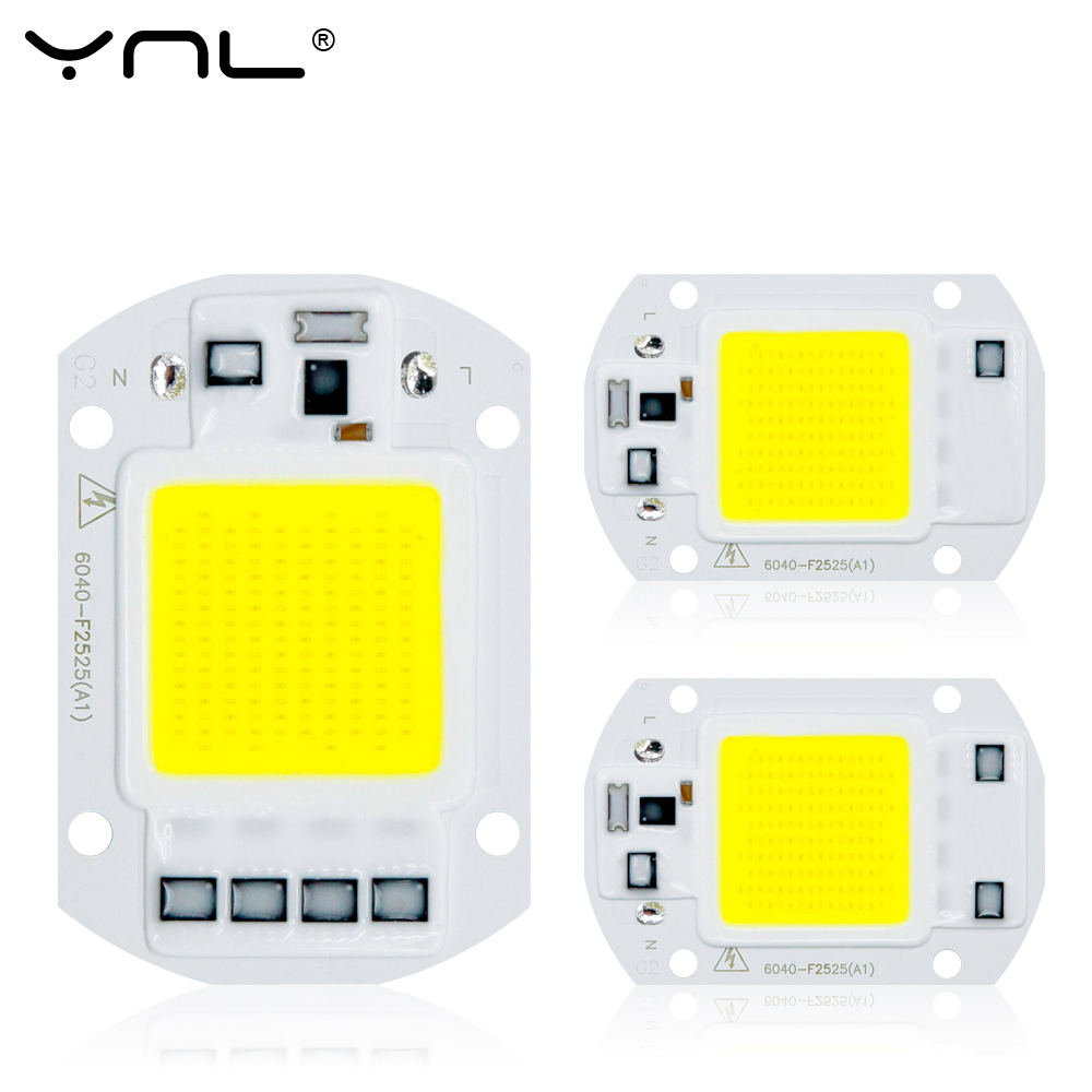 YNL COB LED Lamp 50W 30W 20W Bulb 220V Input LED Chip Smart IC Fit No Driver High Lumens For DIY LED Flood Light Spotlight чай пуэр 100
