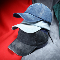 Men Denim Baseball Cap Brand New Solid Color Casual Jeans Hat Women Blank Caps Casquette De