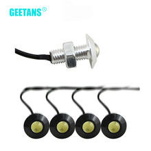 GEETANS 1pc LED Daytime Running light Eagle Eye DRL Ultra thin 2.3CM Car Lights Source Waterproof Lamp Warning Light 12V AE(China)