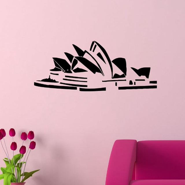 free shipping sydney opera house sticker australia world famous