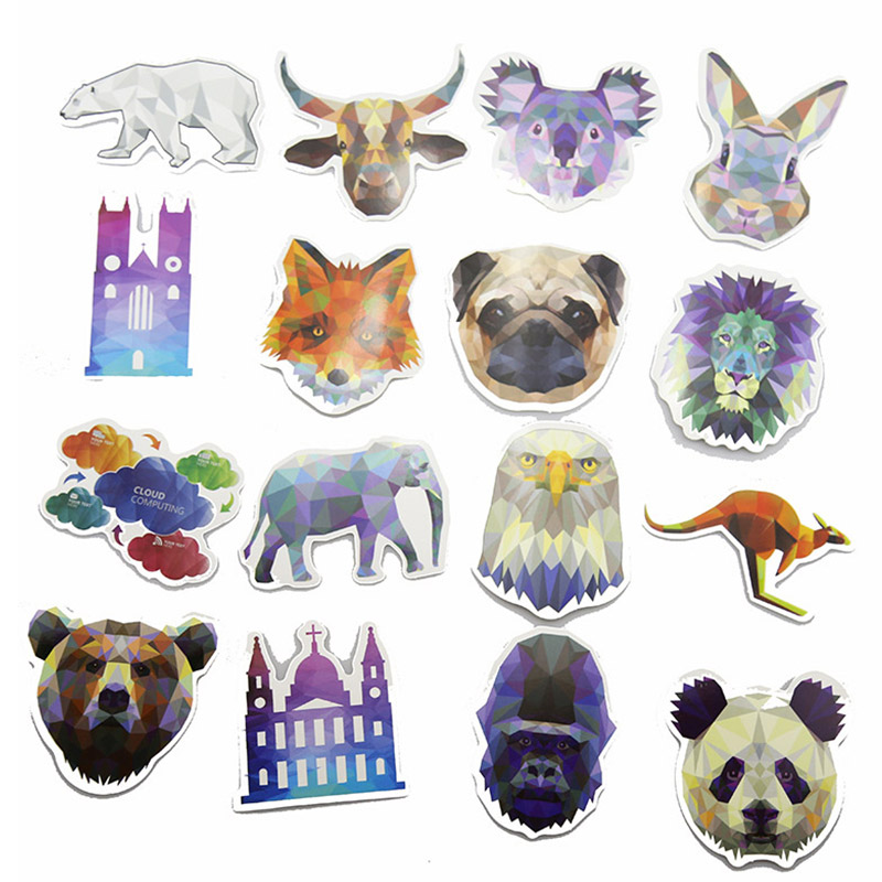 35Pcs Pvc Diamond Animal Stickers For Laptop Motorcycle Notebook Refrigerator Skateboard Mobile Phone Backpack Tables Sticker