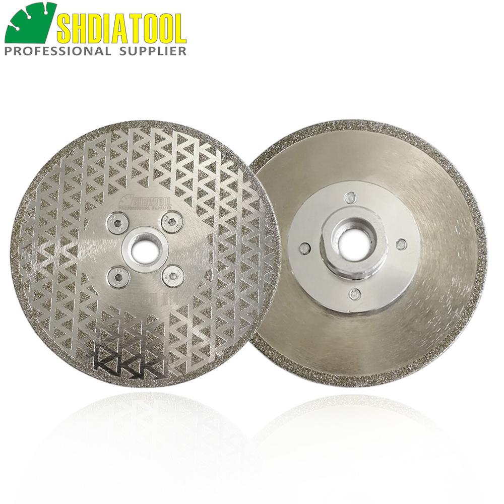 SHDIATOOL 2pcs 5 125mm Single Sided Electroplated Diamond Cutting Grinding Discs For Marble And Granite With