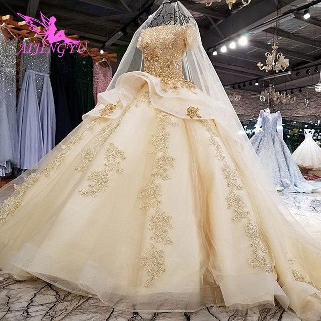 AIJINGYU Quần Áo Cưới Dresses Ren Hồi Giáo Giảm Giá Cửa Hàng Đảng Trang Phục Truyền Thống Gowns Gothic Bóng Gown