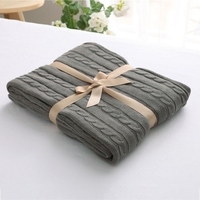 Living Home Cool Twist Cotton Blanket Knitted Wool Air Conditioned Room Sofa Soft Comfortable Blankets