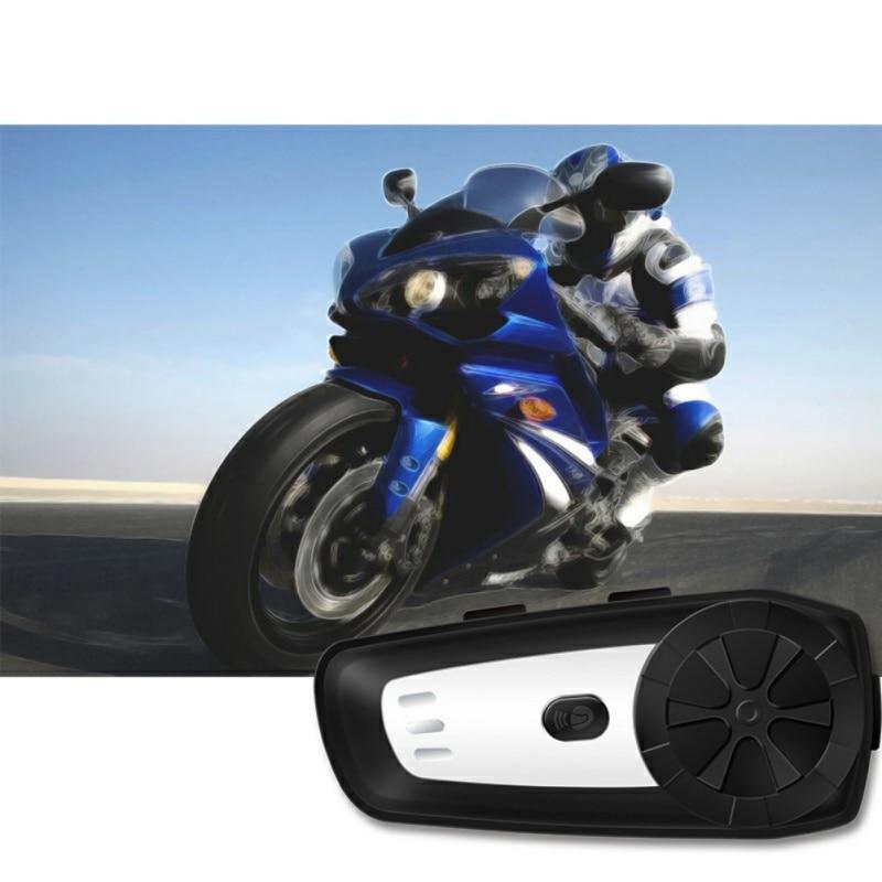 1Pcs Bluetooth Motorcycle Helmet Intercom Interphone Headset Support MP3 Intercomunicador Headset Interphone