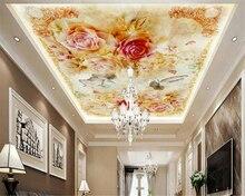 beibehang Advanced Aesthetic Fashion Wallpaper Jade Carp Stone Marble European Flower Pattern Zenith Mural 3d wallpaper tapety