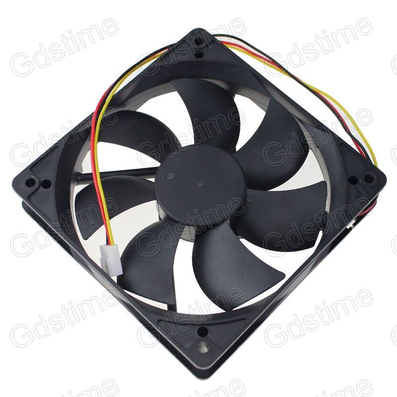 2pcs Gdstime 120mm 120x120x25mm 3pin 12V PC Computer Water Case Cpu DC Brushless Cooling Fan new 3u ultra short computer case 380mm large panel big power supply ultra short 3u computer case server computer case