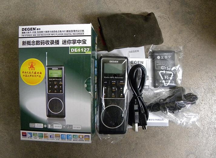 Image 5 - DEGEN DE1127  Mini Digital radio 4GB MP3 Player and Voice  Recorder with FM Stereo degen receiver MW SW AM Shortwave Radio  Degenshortwave radioradio degendegen de1127