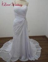 שמלות כלה בתולת ים iLoveWedding פורמליות הלטר שיפון קריסטל ואגלי שמלות כלה אורך רצפת פניני WE66 מותאם אישית