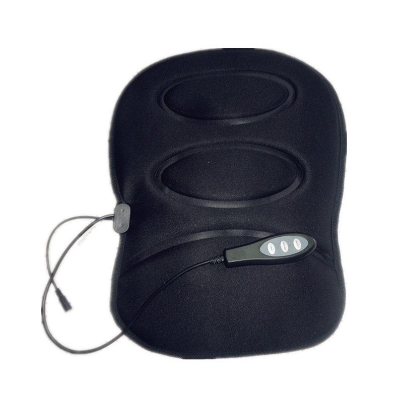 Car Seat Cover Home Use Heating Vibrating Massage Pad Cushion Mattress Hip Up Electric Therapy Massager Back Neck Pain Reliever image