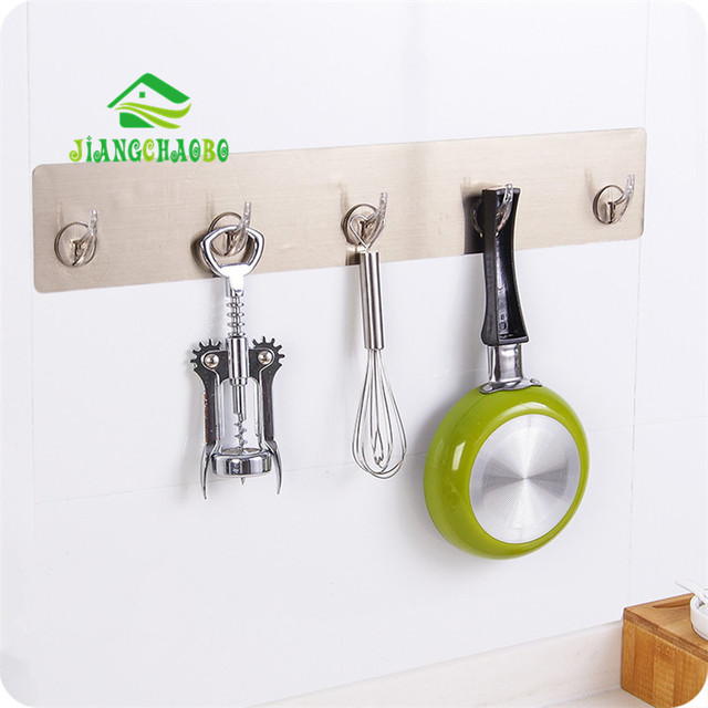 JiangChaoBo Creative Strength Non-Trace Pegged The Bathroom Wall Punch Hook Kitchen Door Clasps Row & JiangChaoBo Creative Strength Non Trace Pegged The Bathroom Wall ...
