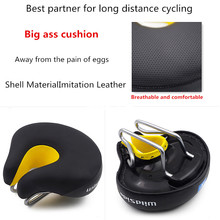 2018 Comfortable open noseless Bicycle Saddle MTB Road Soft Bike Front Cushion Cycling Saddle for exercise Bicycle Seat Parts