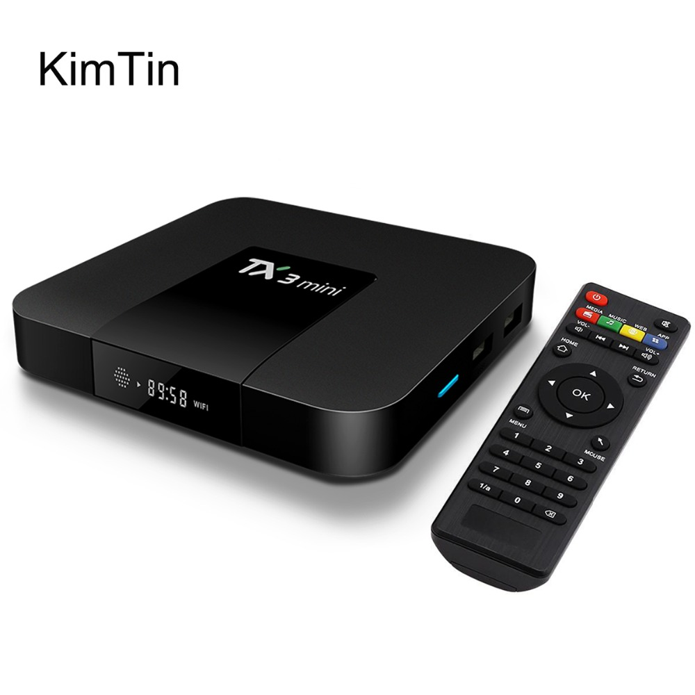 2017 KimTin Android 7.1 TV Box Ram 2G 1G Rom 16G Amlogic S905W Quad Core Media Player LAN WiFi DLNA Airplay KODI UHD 4K miracast android 6 0 tv box t95x amlogic s905x 2g 8g 2g 16g quad core 100lan wifi h 265 16 1 full pre installed media player box