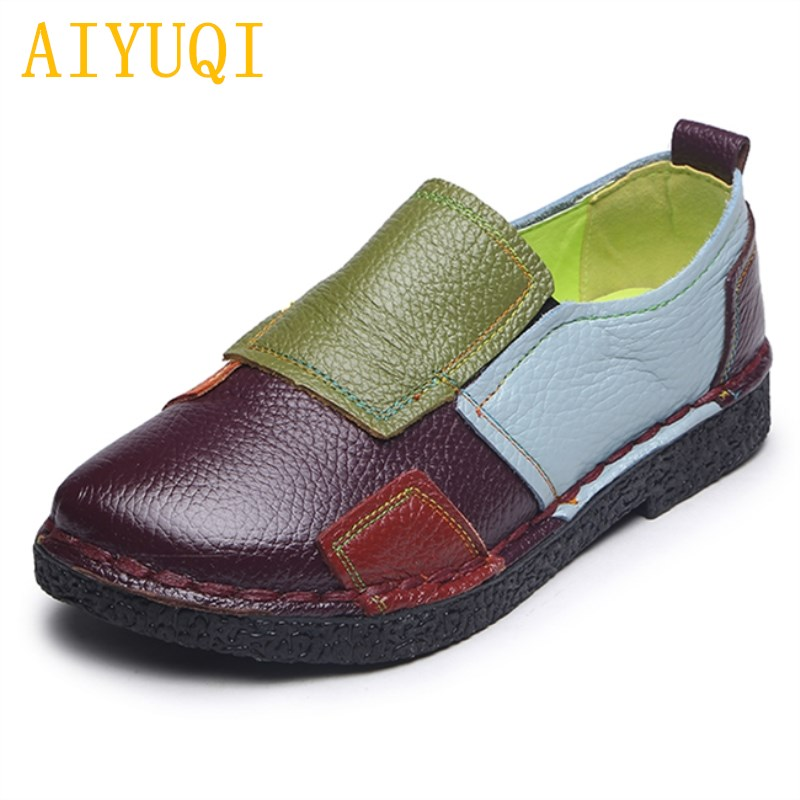 Aiyuqi 2019 New Spring Genuine Leather Womens Sandals Hollow Mesh Fashion Sandals Women Sense Brand Shoes Women Women's Shoes High Heels