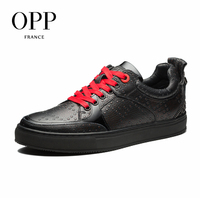 OPP 2017 Men Shoes Loafers For Men Cow Leather Flats Shoes Dot Casual Shoes Loafers Metal