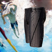 Free Shipping And Hot Sale Sharkskin Water Repellent Men S Long Racing Swimming Swim Trunks Sport