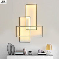 Modern Rectangle Aluminum Dimmable Led Wall Lamp Living Room Led Wall Lights Bedroom Led wall luminaire Fixtures Led Wall Sconce