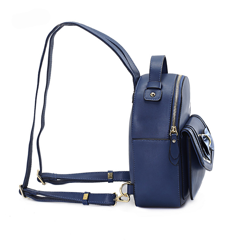 LilyHood PU Leather Mini Backpack Teenage Girly Japanese Style Kawaii Cute  Sweet Bow Small Daily School Black Navy Blue Rucksack-in Backpacks from  Luggage ... 09cecbc119