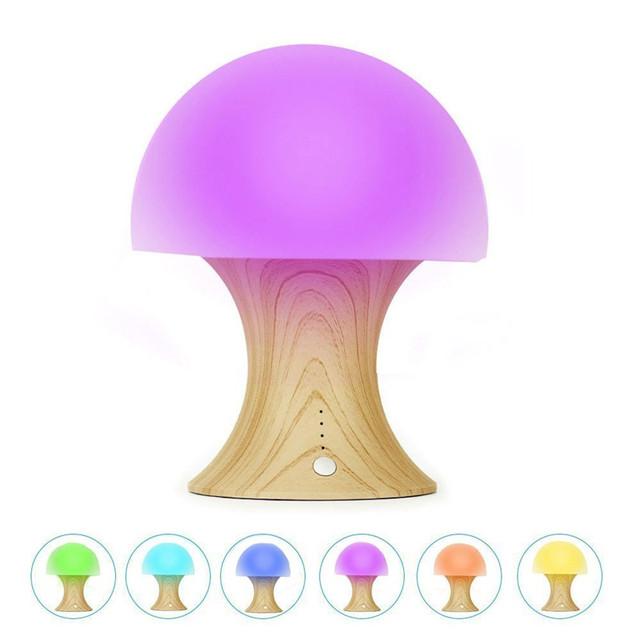 Temporizador de silicone Bola de Luz & Mushroom Variável Aparência Mudando A Cor Night Light para Crianças USB Recarregável Lâmpada de Mesa para o Bebê