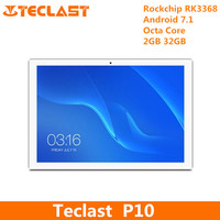 Teclast P10 Tablet PC Octa Core Android 7.1 Rockchip RK3368 H 1.5GHz 2GB RAM 32GB ROM Dual WiFi Cameras OTG 10.1 inch PC