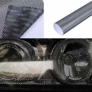 Image 2 - 107cm*30cm Hollow Automobile Lamp Film Grid Side Shield STICKER BLACK Headlamp Taillight Film Honeycomb Pattern