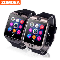 Free Shipping DZ09 Q18 Passometer Smart Watch With Touch Screen Camera SD Card Bluetooth Smartwatch For