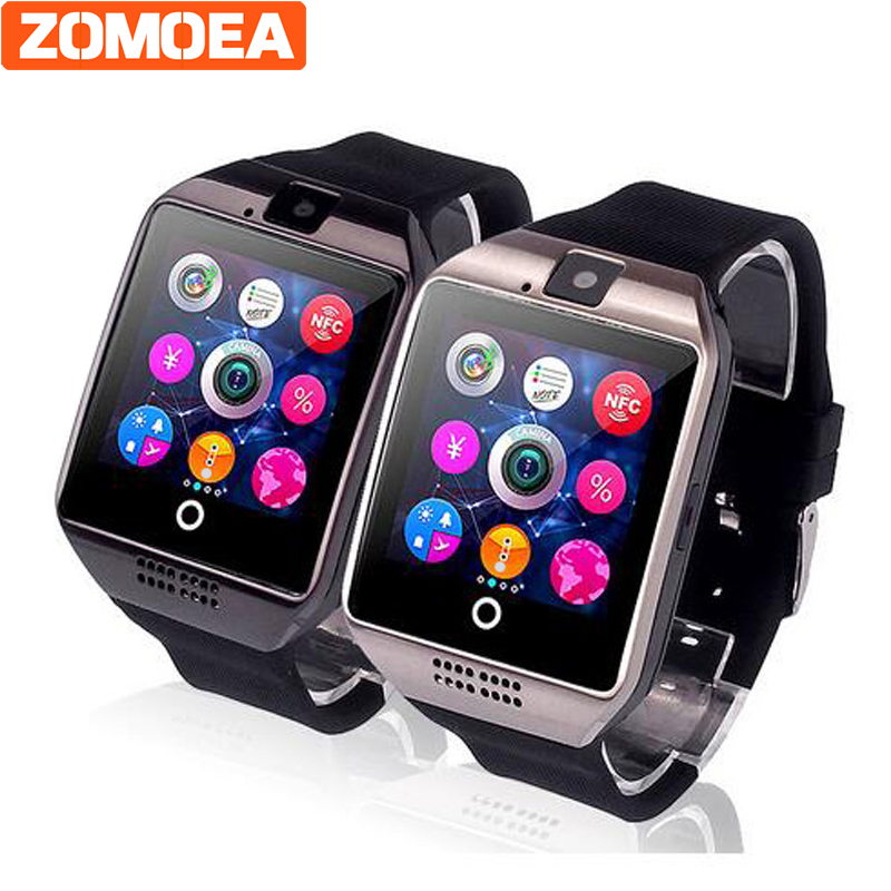 Free shipping DZ09 Q18 Passometer Smart font b watch b font with Touch Screen camera SD