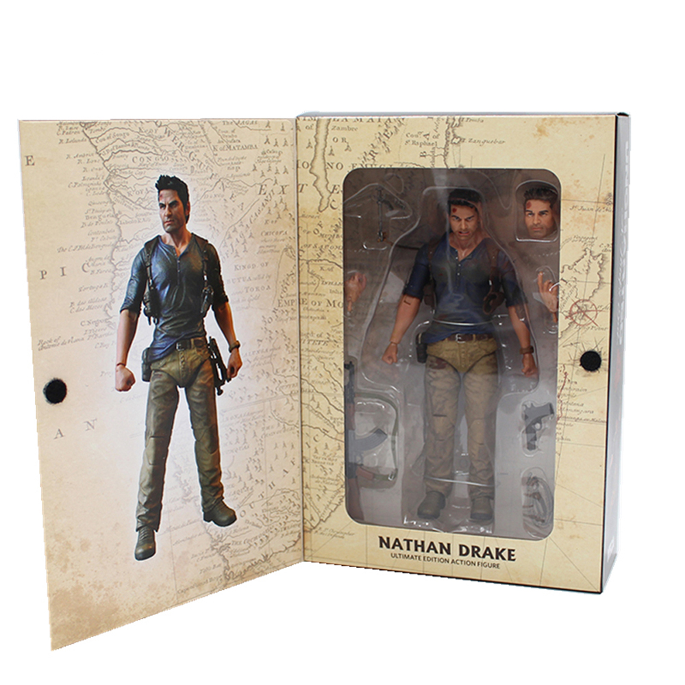 18cm NECA Uncharted 4 A thief's end NATHAN DRAKE Ultimate Edition PVC Action Figure Collectible Model Toy Gift neca marvel legends venom pvc action figure collectible model toy 7 18cm kt3137