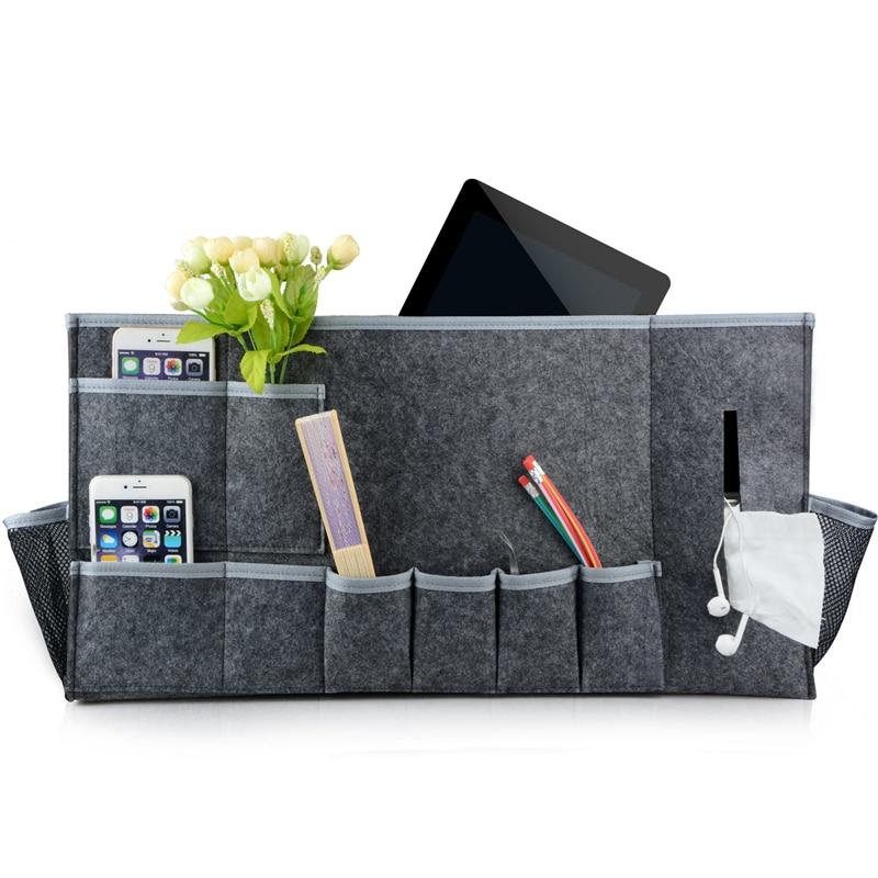 Felt Bedside storage bag bedroom Storage Organizer Magazine pouch Tissue box finishing bags wall phone holder pocket 58*30*8cm