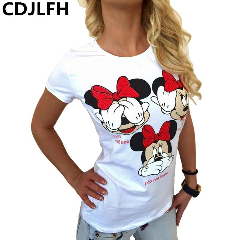 2019 Hot Women Cartoon Print Women Tshirt Casual Funny T Shirt For Lady Girl Top Tee Hipster Tumblr Camiseta Mujer Dropshipping
