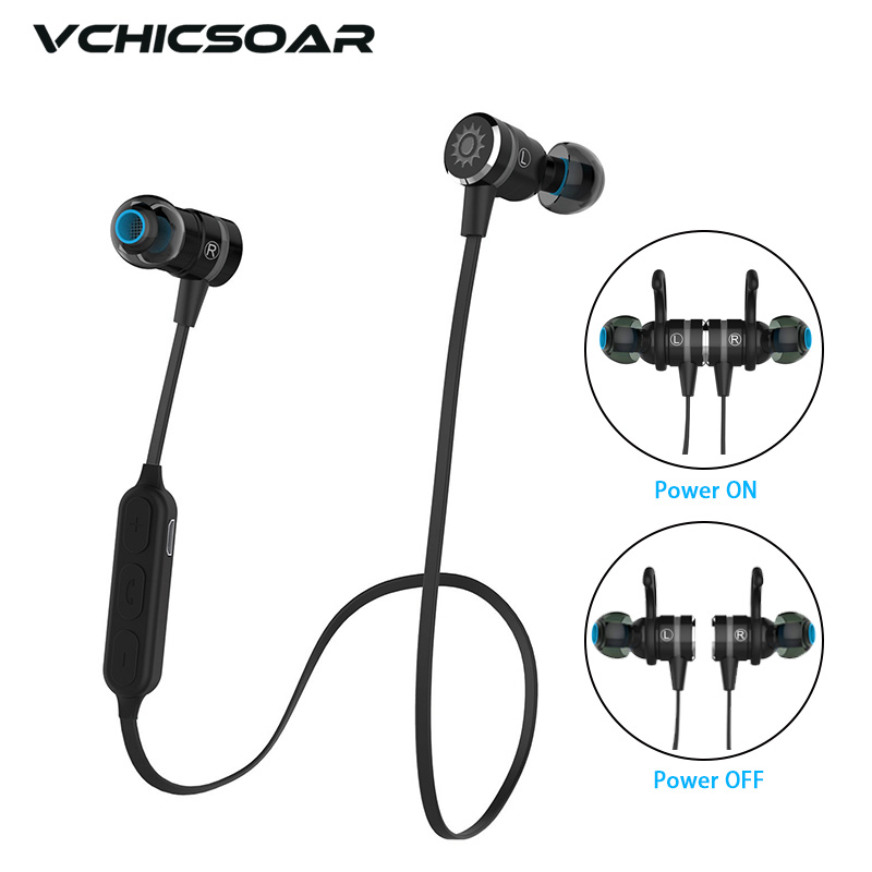 Vchicsoar TA98 Bluetooth Earphone Wireless Headset Magnetic Switch Stereo Noise Reduction fone de ouvido Headphones with Mic wireless headphones bluedio 99a bluetooth headset bluetooth earphone fone de ouvido hands free charger dock for cell phone back